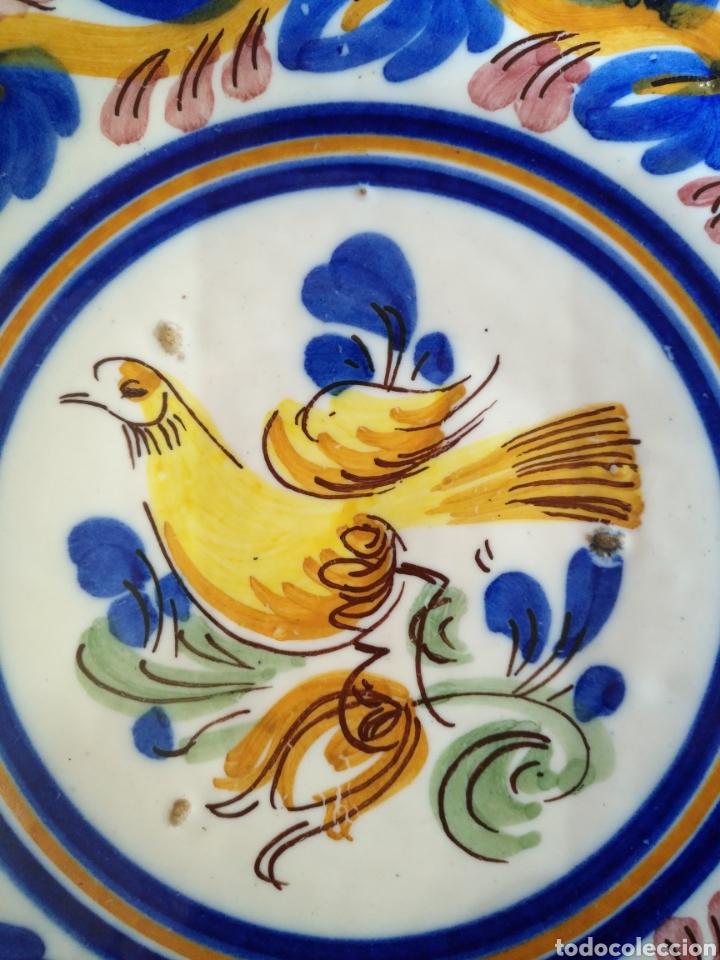 Antigüedades: Cuenco plato hondo ceramica manises , siglo XIX. 25cm x 3cm. - Foto 5 - 161108256