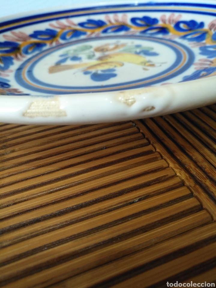 Antigüedades: Cuenco plato hondo ceramica manises , siglo XIX. 25cm x 3cm. - Foto 7 - 161108256