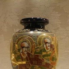 Antigüedades: PAREJA JARRONES CHINOS SATSUMA. Lote 161230078