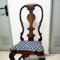 Antigüedades: SIGLO XVIII - SILLAS ISABELINAS DE NOGAL MACIZO. Lote 161236946