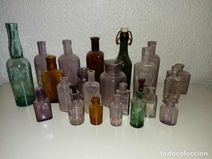 LOTE DE TARROS DE FARMACIA PP SXIX (Antigüedades - Cristal y Vidrio - Farmacia )