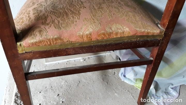 Antigüedades: Pareja de sillones antiguos estilo art decó. Dos sillas butacas antiguas estilo modernista. - Foto 11 - 152813742