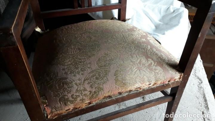 Antigüedades: Pareja de sillones antiguos estilo art decó. Dos sillas butacas antiguas estilo modernista. - Foto 12 - 152813742