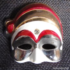 Antigüedades: GALOS. CERAMICA. MASCARA CARNAVAL CON ORO Y PLATINO. NUMERADA. Lote 161268690