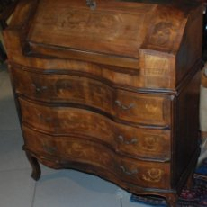 Antigüedades: MUY BONITO MUEBLE ESCRITORIO BURÓ CON MARQUETERÍA. Lote 161283446