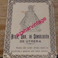 Antigüedades: ANTIQUISIMA PROMESA A NUESTRA SEÑORA DE CONSOLACION DE UTRERA, 94X138MM. Lote 161284470