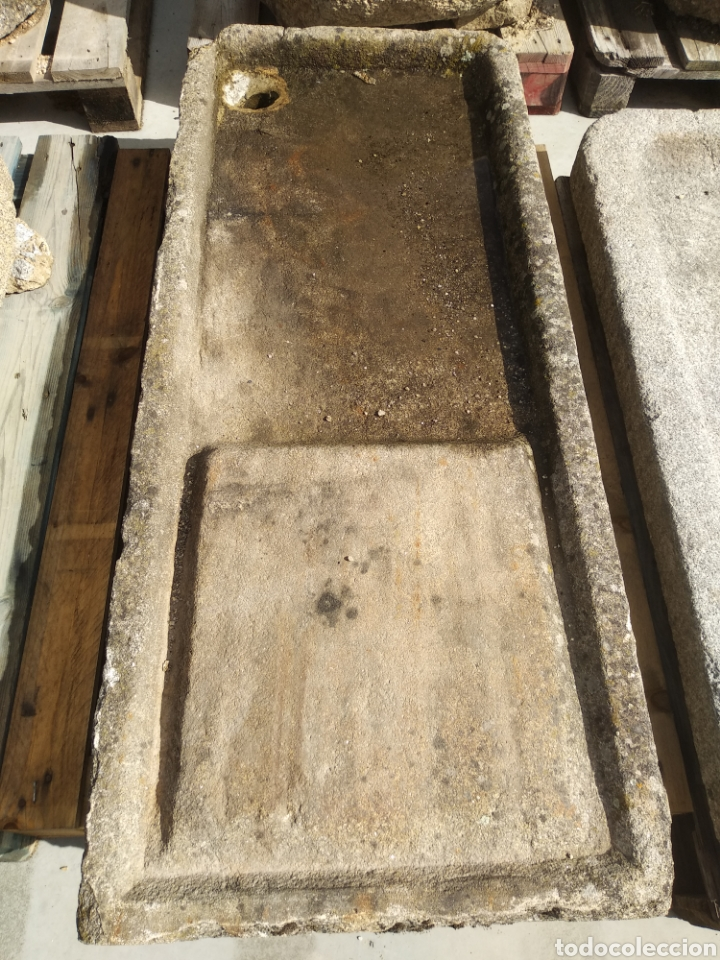 Antigüedades: Pila de piedra de granito. Fregadero lavabo muy antigua - Foto 2 - 161327640