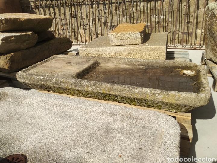 Antigüedades: Pila de piedra de granito. Fregadero lavabo muy antigua - Foto 3 - 161327640