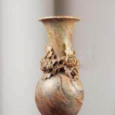 Antigüedades: JARRÓN ALABASTRO. Lote 161337174