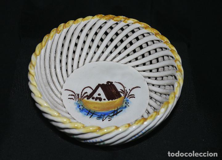 Antigüedades: Joyero de porcelana trenzada - Foto 2 - 161339014