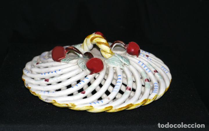 Antigüedades: Joyero de porcelana trenzada - Foto 3 - 161339014