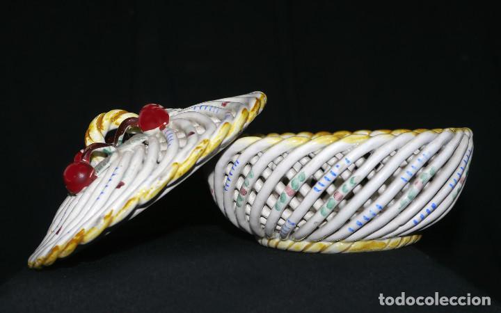 Antigüedades: Joyero de porcelana trenzada - Foto 5 - 161339014