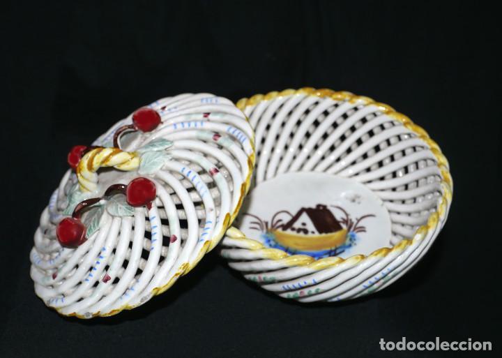 Antigüedades: Joyero de porcelana trenzada - Foto 6 - 161339014