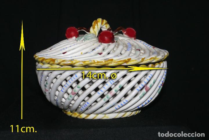 Antigüedades: Joyero de porcelana trenzada - Foto 7 - 161339014