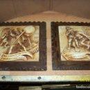 Antigüedades: PAREJA DE CUADROS DE DON QUIJOTE. Lote 161342626