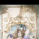 Antigüedades: GRAN LIENZO DAMA MUJER MODERNISTA ALEXANDRE DE RIQUER PINTURA FINAL SIGLO IXX CARTEL PUBLICIDAD BCN. Lote 161354185