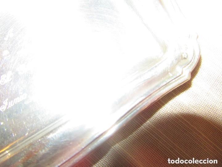Antigüedades: Bandeja Bandejita de plata con contrastes - Foto 3 - 161359202