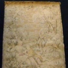 Antigüedades: ANTIGUO TAPÍZ ESCENA ROMÁNTICA - S.XIX. Lote 161369670