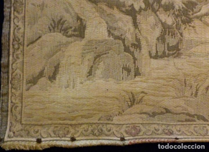 Antigüedades: ANTIGUO TAPÍZ ESCENA ROMÁNTICA - S.XIX - Foto 3 - 161369670