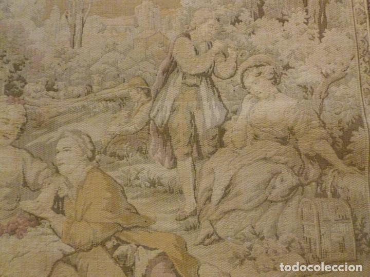 Antigüedades: ANTIGUO TAPÍZ ESCENA ROMÁNTICA - S.XIX - Foto 4 - 161369670