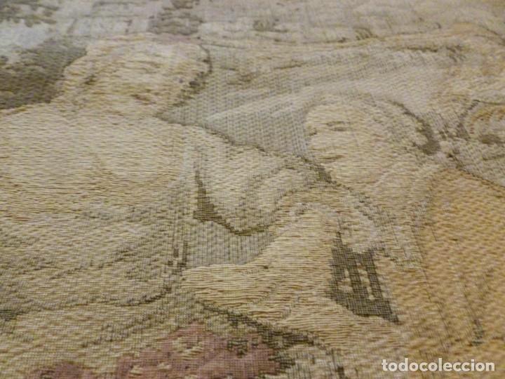 Antigüedades: ANTIGUO TAPÍZ ESCENA ROMÁNTICA - S.XIX - Foto 5 - 161369670