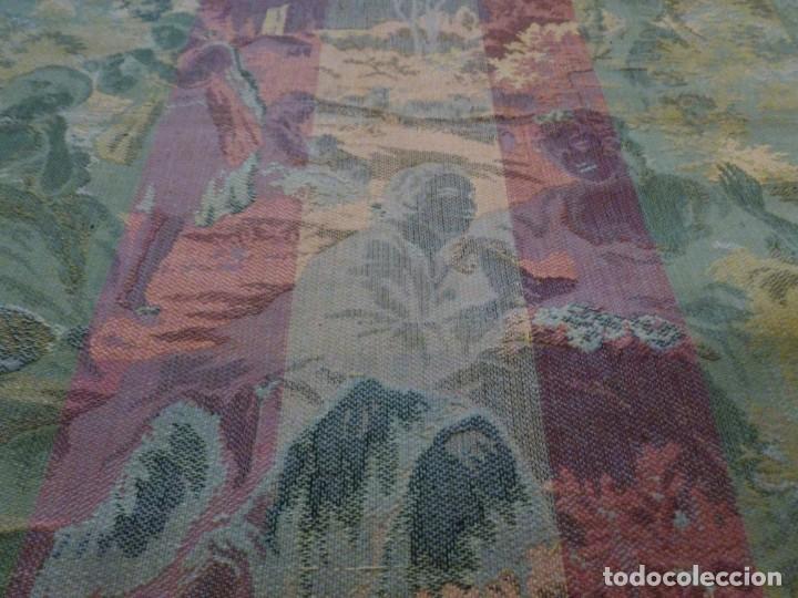 Antigüedades: ANTIGUO TAPÍZ ESCENA ROMÁNTICA - S.XIX - Foto 7 - 161369670