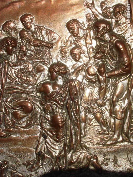 Antigüedades: LA TRANSFIGURACIÓN DE RAFAEL COBRE BAÑADO EN PLATA - Foto 2 - 161375786