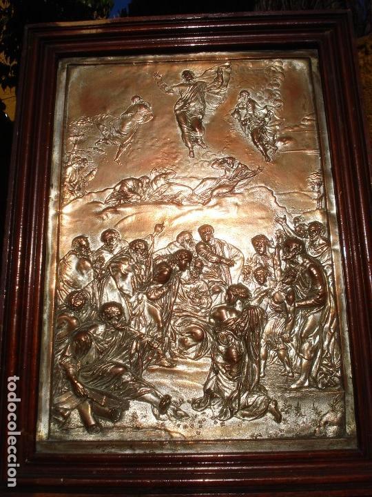 Antigüedades: LA TRANSFIGURACIÓN DE RAFAEL COBRE BAÑADO EN PLATA - Foto 16 - 161375786