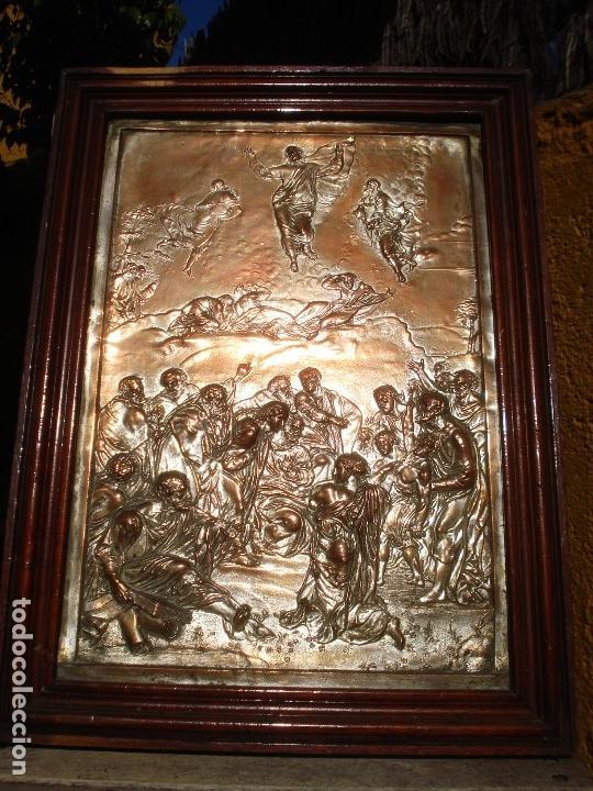 Antigüedades: LA TRANSFIGURACIÓN DE RAFAEL COBRE BAÑADO EN PLATA - Foto 15 - 161375786