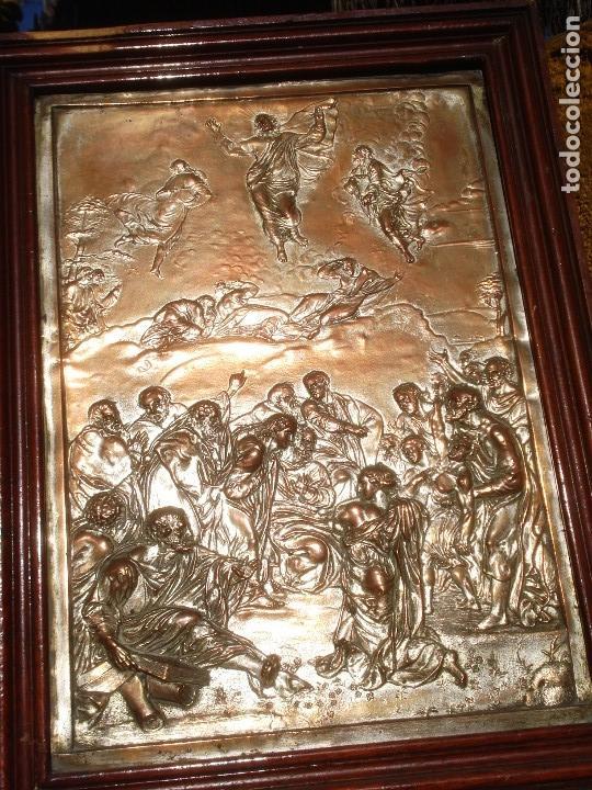 Antigüedades: LA TRANSFIGURACIÓN DE RAFAEL COBRE BAÑADO EN PLATA - Foto 13 - 161375786