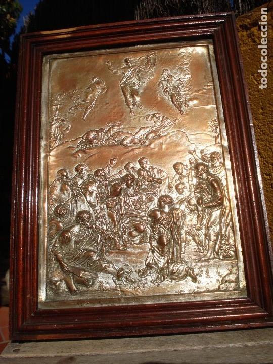 Antigüedades: LA TRANSFIGURACIÓN DE RAFAEL COBRE BAÑADO EN PLATA - Foto 17 - 161375786