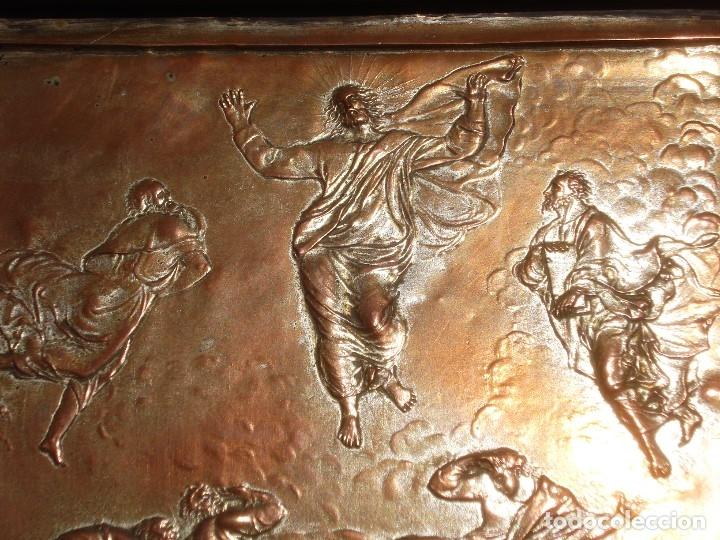 Antigüedades: LA TRANSFIGURACIÓN DE RAFAEL COBRE BAÑADO EN PLATA - Foto 4 - 161375786