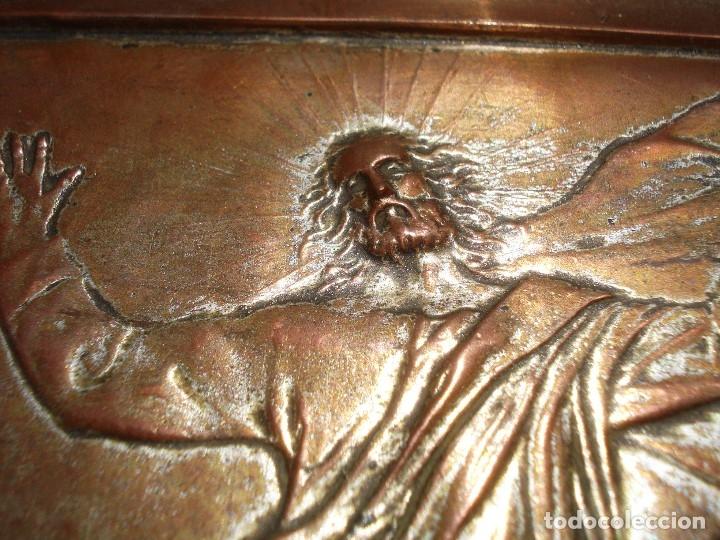 Antigüedades: LA TRANSFIGURACIÓN DE RAFAEL COBRE BAÑADO EN PLATA - Foto 7 - 161375786