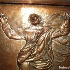 Antigüedades: LA TRANSFIGURACIÓN DE RAFAEL COBRE BAÑADO EN PLATA. Lote 161375786