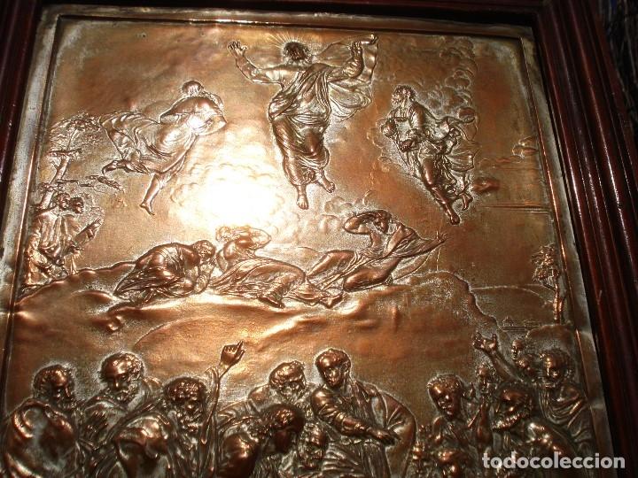 Antigüedades: LA TRANSFIGURACIÓN DE RAFAEL COBRE BAÑADO EN PLATA - Foto 18 - 161375786