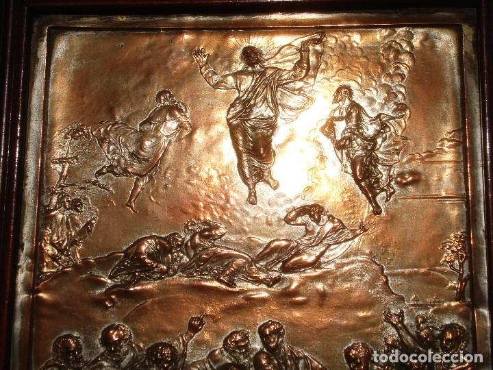 Antigüedades: LA TRANSFIGURACIÓN DE RAFAEL COBRE BAÑADO EN PLATA - Foto 21 - 161375786