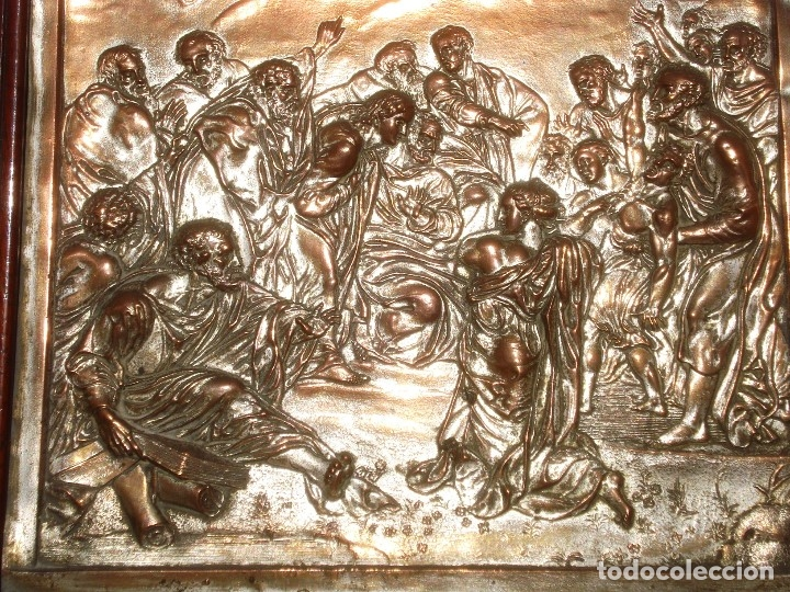 Antigüedades: LA TRANSFIGURACIÓN DE RAFAEL COBRE BAÑADO EN PLATA - Foto 8 - 161375786