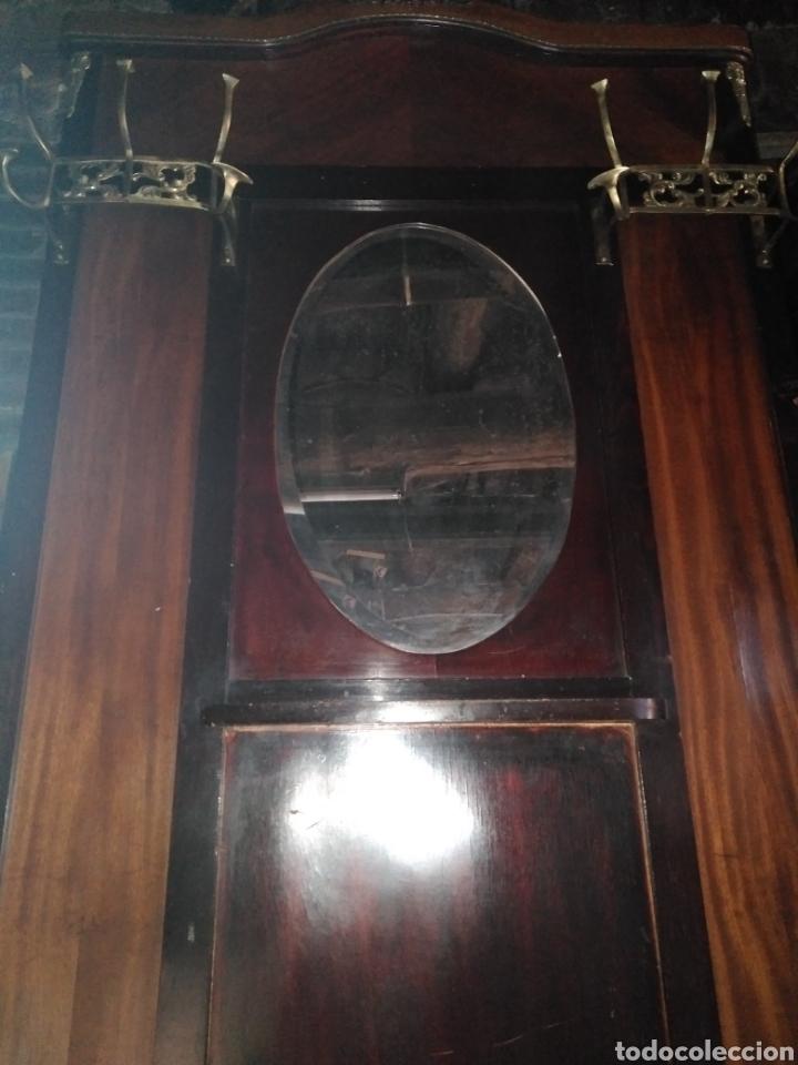 Antigüedades: PARAGUERO PERCHERO SOMBRERERO RECIBIDOR MODERNISTA - Foto 4 - 161376026