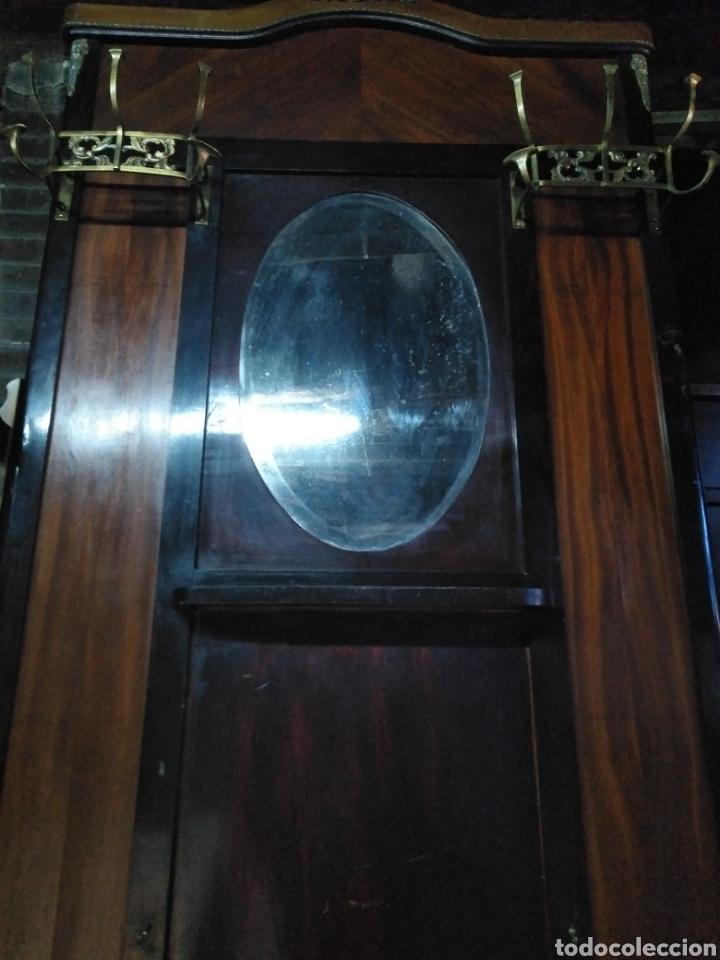 Antigüedades: PARAGUERO PERCHERO SOMBRERERO RECIBIDOR MODERNISTA - Foto 5 - 161376026