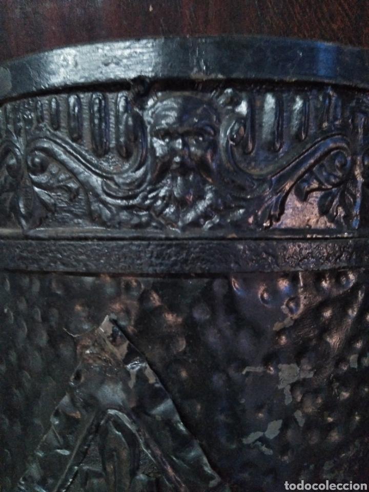 Antigüedades: PARAGUERO PERCHERO SOMBRERERO RECIBIDOR MODERNISTA - Foto 9 - 161376026