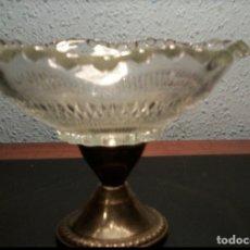 Antigüedades: CENTRO DE MESA DE PLATA 925 Y CRISTAL. Lote 161376678