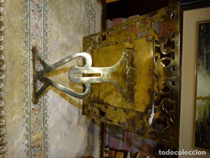 Antigüedades: MARCO PORTA RETRATOS ANTIGUO DE BRONCE DE MESA - Foto 4 - 161401350