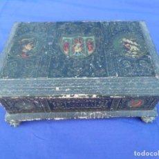 Antigüedades: PRECIOSA CAJA AÑOS 40 EN CARTON DURO SEVILLA. Lote 161404718
