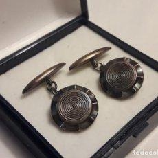 Antigüedades: BELLOS ANTIGUOS GEMELOS DE PLATA. Lote 161410070