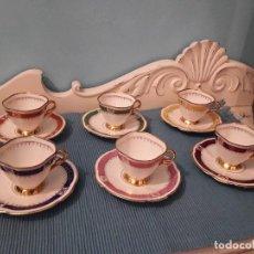 Antigüedades: 6 TAZAS CAFÉ PORCELANA ALEMANA LIMT. Lote 161415198