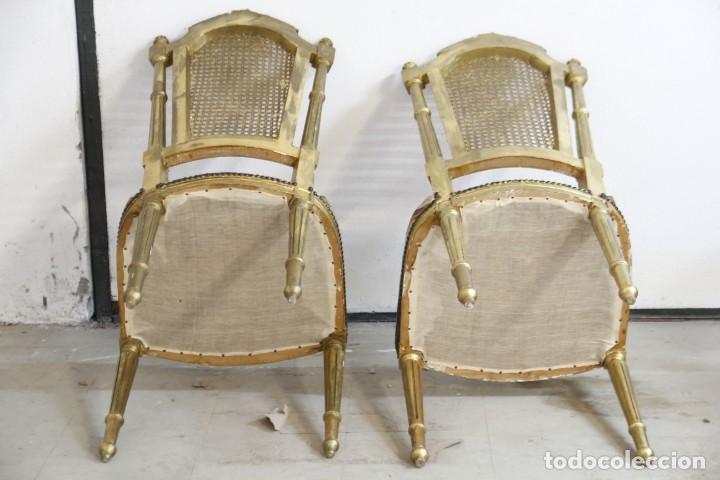 Antigüedades: Espectacular pareja de sillas doradas - Foto 3 - 161429018