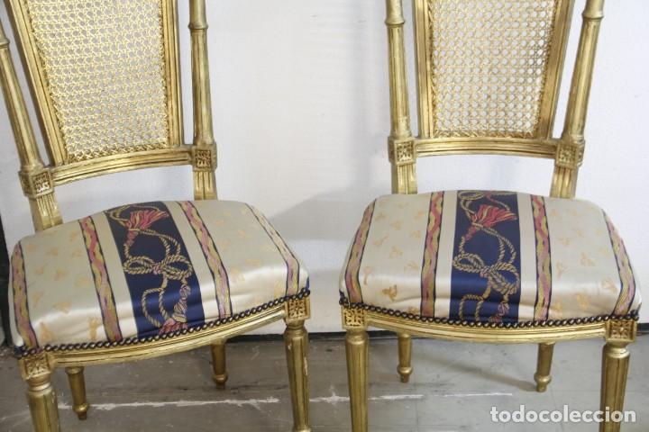Antigüedades: Espectacular pareja de sillas doradas - Foto 4 - 161429018