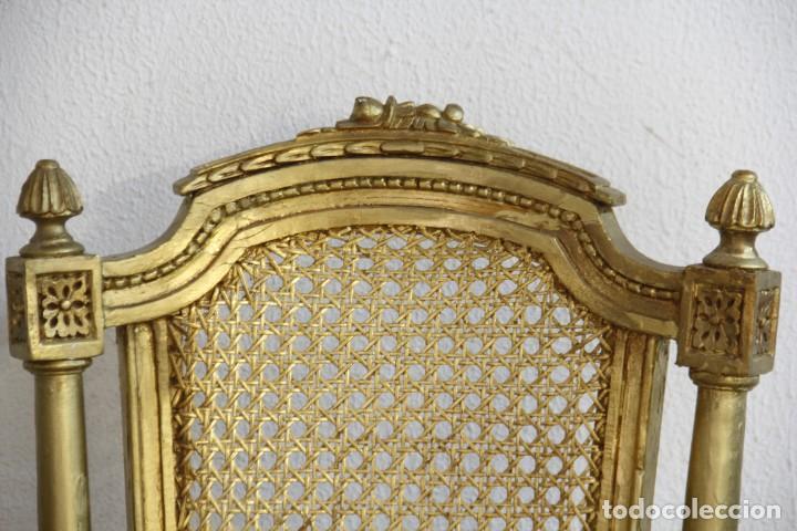 Antigüedades: Espectacular pareja de sillas doradas - Foto 5 - 161429018
