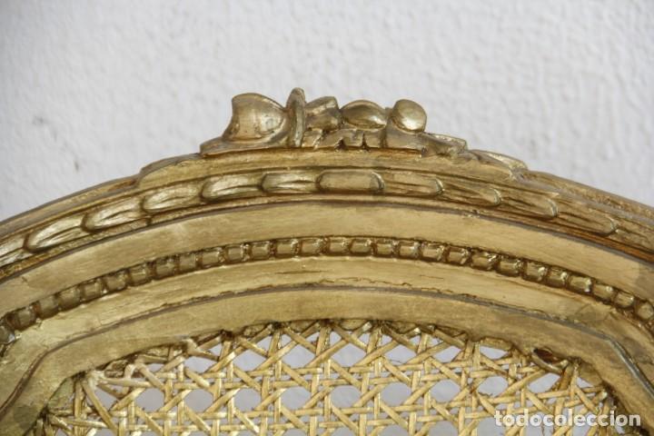 Antigüedades: Espectacular pareja de sillas doradas - Foto 6 - 161429018