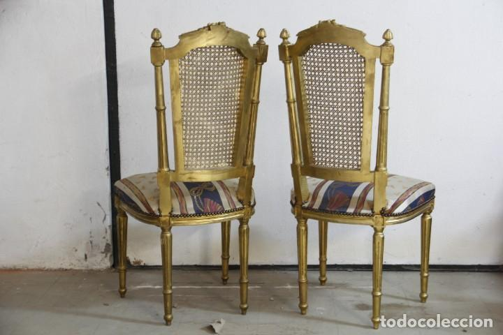 Antigüedades: Espectacular pareja de sillas doradas - Foto 2 - 161429018